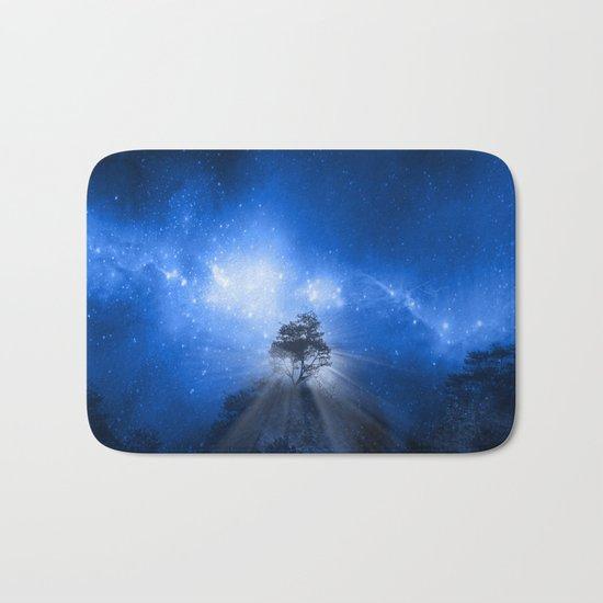 blue night landscape Bath Mat