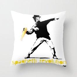 spaghetti revolution Throw Pillow