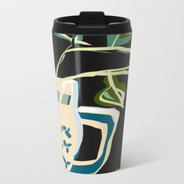 Still life with a pitcher and leaves Metal Travel Mug