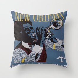Vintage poster - New Orleans Throw Pillow