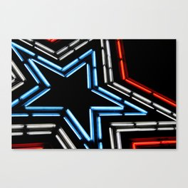 Neon Star Canvas Print