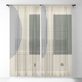 Contemporary 36 Sheer Curtain