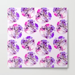 Abstract pattern of purple circular shapes Metal Print