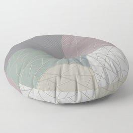 THE WORLD IS ROUND (abstract) Floor Pillow