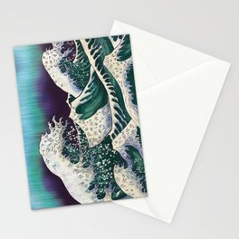 Northern Lights Ocean Waves Stationery Cards