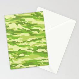 Green Kelp Camo Pattern Stationery Cards