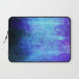 Space Glacier // Blue Purple Nebula Laptop Sleeve