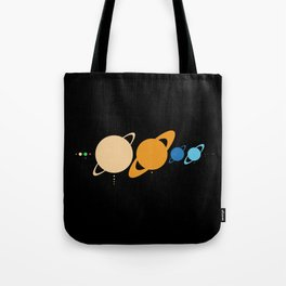 Planets And Moons To Scale Tote Bag