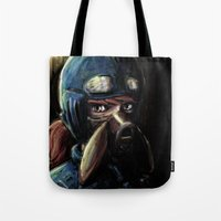 nausicaa Tote Bags featuring Nausicaa of the Valley of the Wind by Barrett Biggers