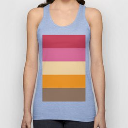 Vivid and Retro Stripes Print Unisex Tank Top