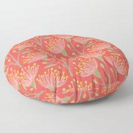 EUCALYPTUS in LIVING CORAL Floor Pillow