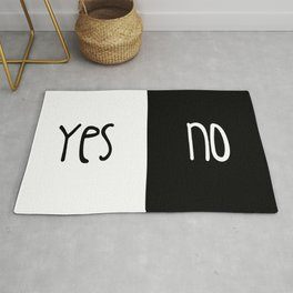 Yes/No Rug