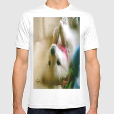 PUPPY PAWS Mens Fitted Tee MEDIUM White