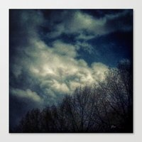 murakami Canvas Prints featuring Evening Sky by Geni