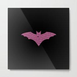 Purple Bat Paint Splatter Metal Print
