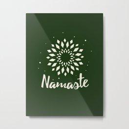 Namaste Mandala Flower Power Metal Print