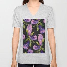 Embroidered callas Unisex V-Neck
