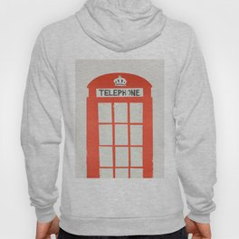 Red London Telephone Box Hoody