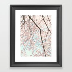 Vintage pink tree Framed Art Print