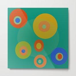 Colorul Geometric Circles Metal Print