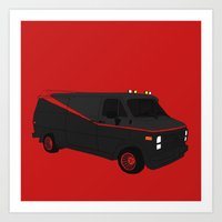 The A-Team Van Art Print