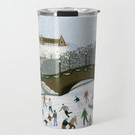 Ice skating pond Travel Mug