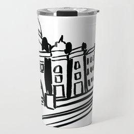 """Melbourne Illustrations """"Flinders Street Station"""" Travel Mug"""