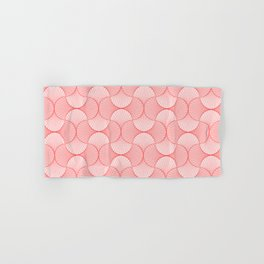 Happy Coral Retro Flowers Abstract Hand & Bath Towel
