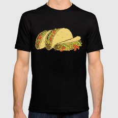 Tacos 2X-LARGE Black Mens Fitted Tee
