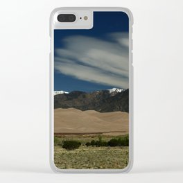 High Mountains and Sand Dunes Clear iPhone Case