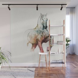 Horse (Siwy / Silver / color version) Wall Mural