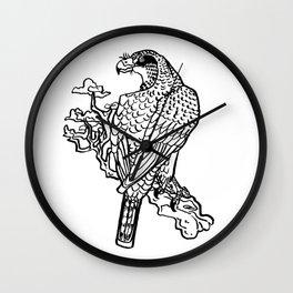 inkbrush hawk Wall Clock
