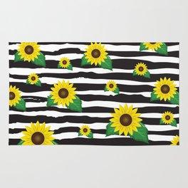 Sunflowers Print Rug