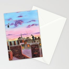 Mary Poppins and Bert Stationery Cards
