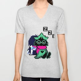 Ralsei and Kris Delta Rune Unisex V-Neck