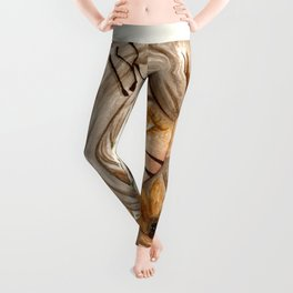 Zodiac sign- Leo Watercolor paint Leggings