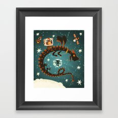 Space Dragon Framed Art Print