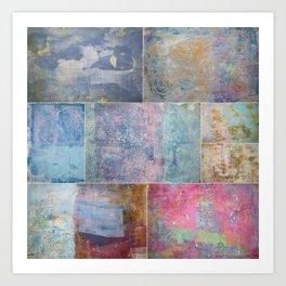Collage monoprints Art Print