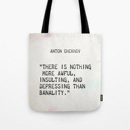 Anton Chekhov quote Tote Bag