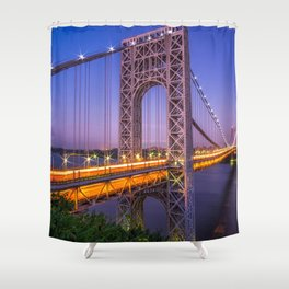 World Famous Historic George Washington Bridge Hudson River New York City Ultra HD Shower Curtain