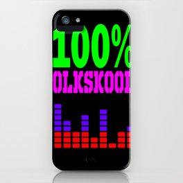 100% oldskool iPhone Case