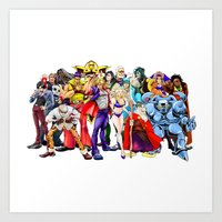 Fighting game characters  Art Print