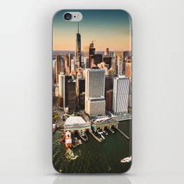 aerial view of manhattan iPhone Skin