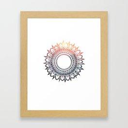 Mehndi Sun Framed Art Print