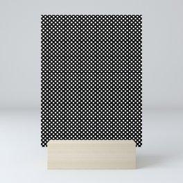 Polka Dots (White/Black) Mini Art Print