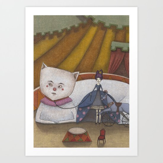 My Cat and I Art Print