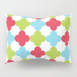Red Green Blue Geometric Shapes Pattern Pillow Sham
