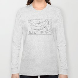 Map of The Great Smoky Mountains National Park (1996) Long Sleeve T-shirt