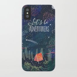 Let´s be adventurers iPhone Case
