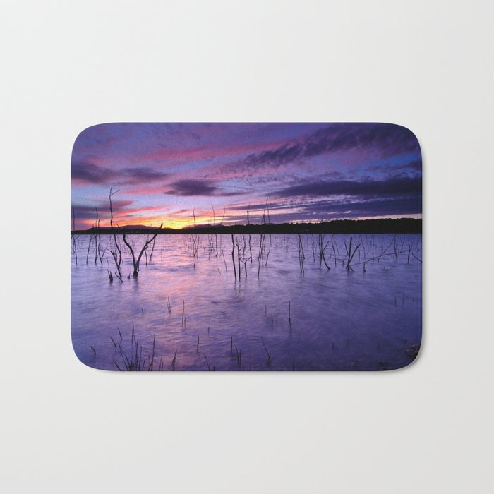 Purple waters Bath Mat
